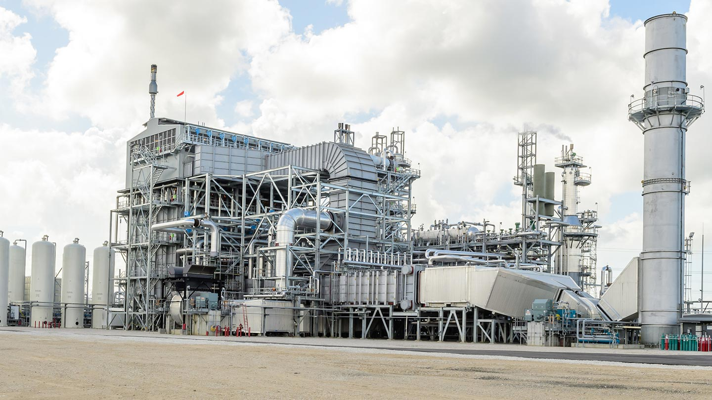 Air Products' industrial gas facility in Baytown, Texas, produces hydrogen and carbon monoxide for customers linked to Air Products' Gulf Coast pipeline networks