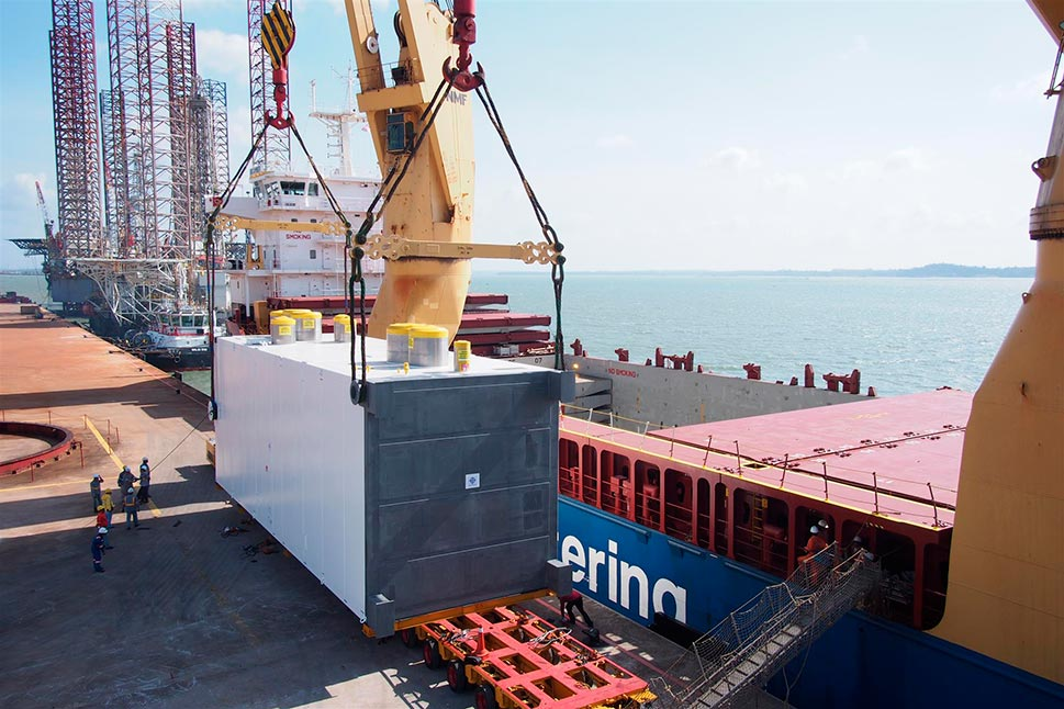 Cold Box for Petronas 1 FLNG project. Shipping from Tanjung Langsat port