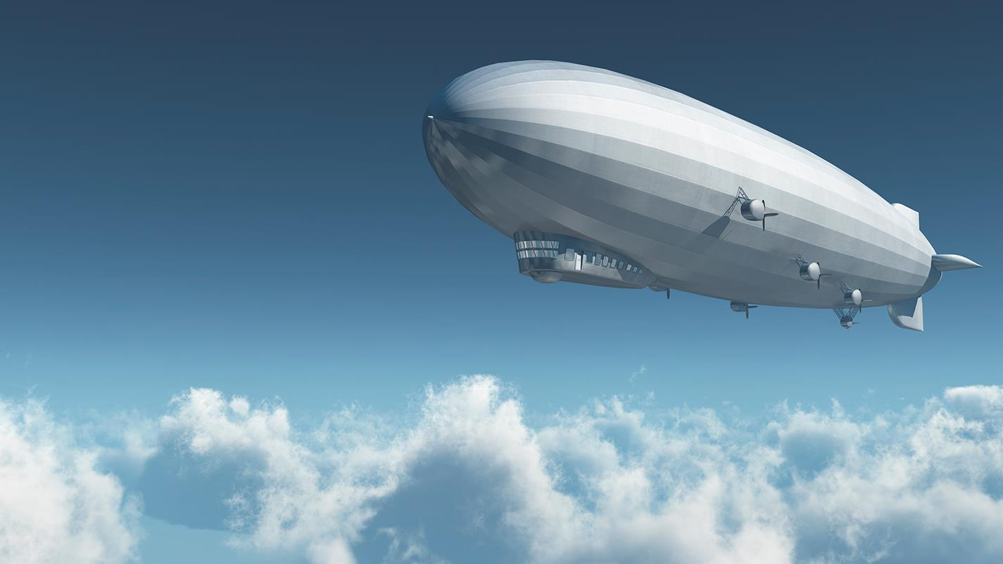 Blimp flying