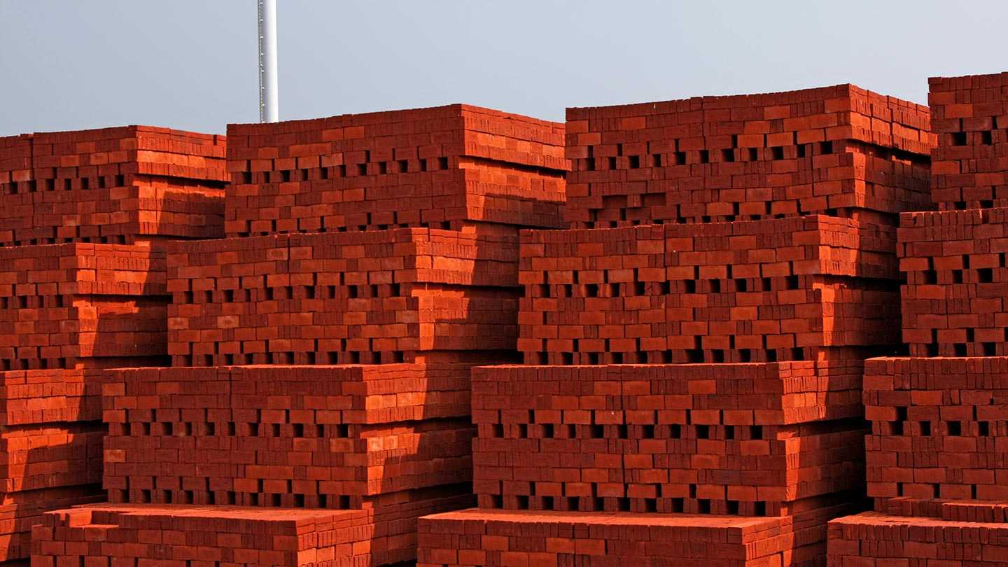 Blocks of brick