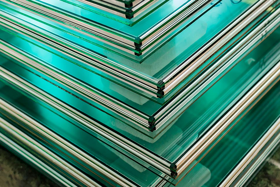 Layers of glass sheets